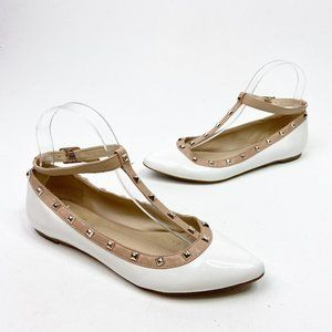 BCBGeneration Annia White Patent Leather Flats